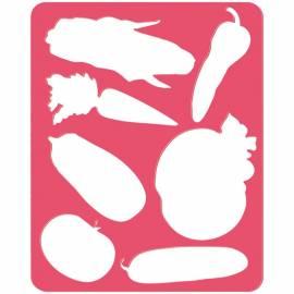 """Трафарет-раскраска контурный, Стамм """"Овощи"""", пакет, европодвес"""