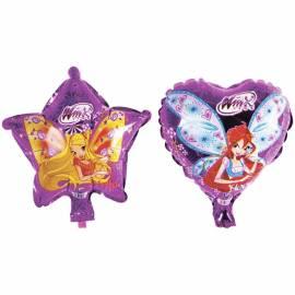 Воздушные шары, 2шт., 23см, Winx, фольгинированные,  в подвесе