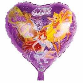 """Воздушные шары, 46см, Winx """"Сердце лазерное"""""""