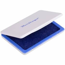 Штемпельная подушка Berlingo, 120*90мм, синяя, пластиковая