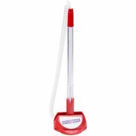 """Ручка шариковая настольная MunHwa """"Stop Pen"""" синяя, 0,7мм, красный корпус"""