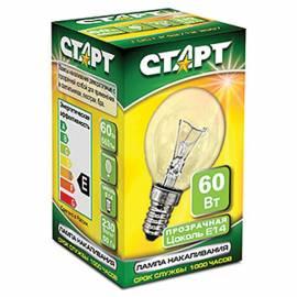 Лампа накаливания Старт ДШ 60W, E14, прозрачная
