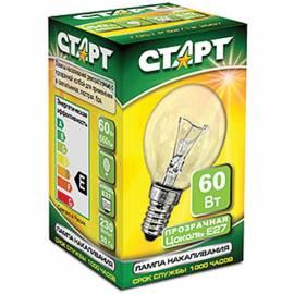 Лампа накаливания Старт ДШ 60W, E27, прозрачная
