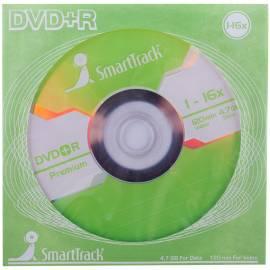 Диск DVD+R 4.7Gb Smart Track 16x (бумажный конверт)