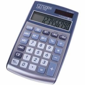 Калькулятор карманный Citizen CPC-112, 12 разр., двойное питание, 72*120*9мм, серебристый