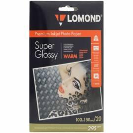 Бумага A6 (100*150) для стр. принтеров Lomond, 295г/м2 (20л) супергл.