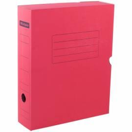Короб архивный с клапаном OfficeSpace, микрогофрокартон, 75мм, красный