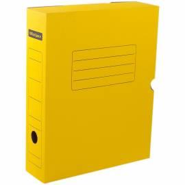 Короб архивный с клапаном OfficeSpace, микрогофрокартон, 75мм, желтый
