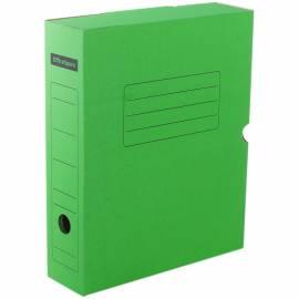 Короб архивный с клапаном OfficeSpace, микрогофрокартон, 75мм, зеленый