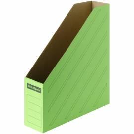 Накопитель-лоток архивный OfficeSpace (микрогофрокартон), ширина 75мм, зеленый