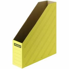 Накопитель-лоток архивный OfficeSpace (микрогофрокартон), ширина 75мм, желтый