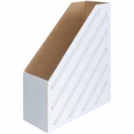 Накопитель-лоток архивный OfficeSpace (микрогофрокартон), ширина 100мм, белый