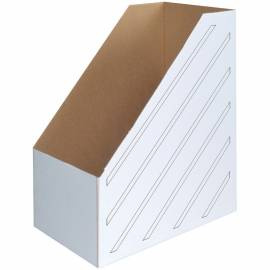Накопитель-лоток архивный OfficeSpace (микрогофрокартон), ширина 150мм, белый