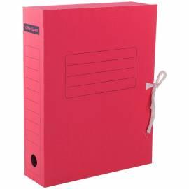 Папка архивная из микрогофрокартона OfficeSpace с завязками, ширина корешка 75мм, красный
