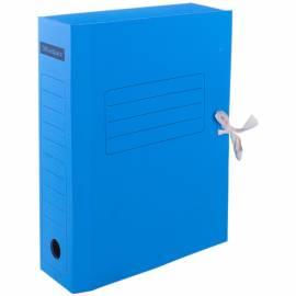 Папка архивная из микрогофрокартона OfficeSpace с завязками, ширина корешка 75мм, синий