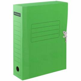 Папка архивная из микрогофрокартона OfficeSpace с завязками, ширина корешка 75мм, зеленый