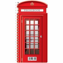 """Телефонная книга А5, 80л., на гребне OfficeSpace """"Лондонский стиль"""", с высечкой"""