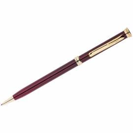 """Ручка шариковая Berlingo """"Golden Luxe"""" синяя, 0,7мм, корпус бордо, поворот., инд. упак."""