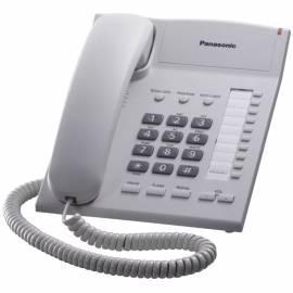 Телефон проводной Panasonic KX-TS2382RUW, повторный набор, регулировка наклона, белый