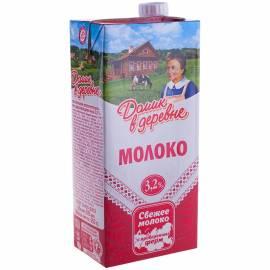 Молоко Домик в деревне ультрапастеризованное, 3,2%, 0,95л, картонная коробка