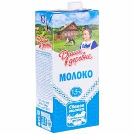 Молоко Домик в деревне ультрапастеризованное, 1,5%, 0,95л, картонная коробка