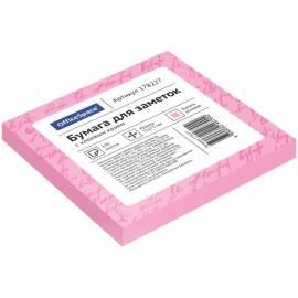 Самоклеящийся блок OfficeSpace, 75*75мм, 100л, розовый