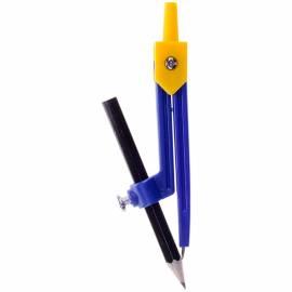 Циркуль ArtSpace пластиковый, с карандашом, 110мм, ПВХ чехол