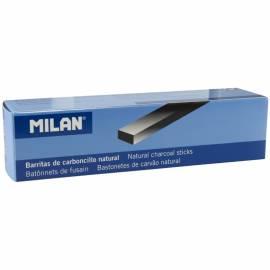 Уголь натуральный Milan, прямоугольный, 22-10мм, набор 3шт., картон. упак.