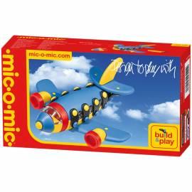 """Конструктор пластиковый Mic-o-Mic """"Самолет реактивный"""", 22 элемента, картонная коробка"""