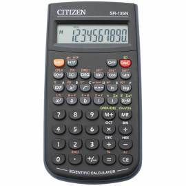 Калькулятор научный Citizen SR-135N, 10 разр., 128 функц., пит. от батарейки., 141*78*12мм, черный