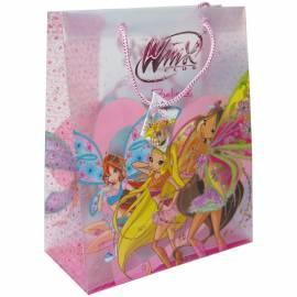 Пакет подарочный 26*32,4*12,5см, Winx, с глиттером, пластиковый