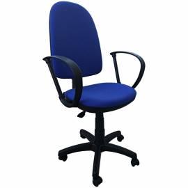 """Кресло оператора """"Престиж"""", ткань синяя с чёрным"""