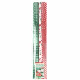Набор крепированной бумаги Werola, 50*200см, 35г/м2, растяж. 35%, 3шт., красно-зеленая, в рулонах