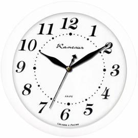 """Часы настенные ход плавный, офисные Камелия """"Классика в белом"""", круглые, 29*29*3,5, белая рамка"""