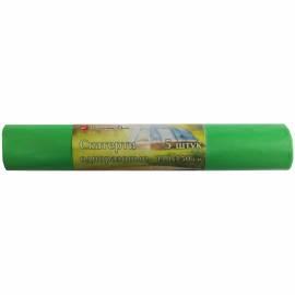 Скатерть одноразовая КБ в рулоне, полиэтиленовая, 110*150см, зеленая, 5шт.