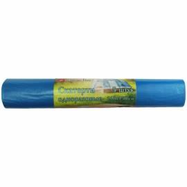 Скатерть одноразовая КБ в рулоне, полиэтиленовая, 110*150см, синяя, 5шт.