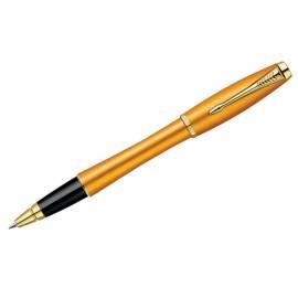 "Ручка-роллер Parker ""Urban Premium Mandarin Yellow GT"" черная, 0,8мм, подар. уп."