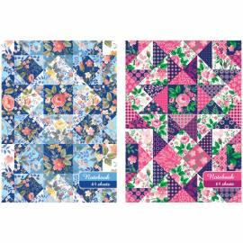 """Бизнес-блокнот А6 64л. ЛАЙТ BG """"Floral patchwork"""", глянцевая ламинация"""