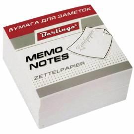 """Блок для записи Berlingo """"Standard"""", 9*9*4,5см, белый"""