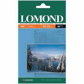 Бумага A6 (100*150) для стр. принтеров Lomond, 180г/м2 (50л) мат.одн.