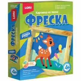"""Фреска-картина из песка Lori """"Пятнистый олененок"""", от 4-х лет, картонная коробка"""