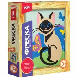 """Фреска-картина из песка Lori """"Сиамская кошка"""", от 7-ми лет, картонная коробка"""