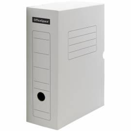 Короб архивный с клапаном OfficeSpace, микрогофрокартон, 100мм, белый
