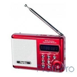 Perfeo мини-аудио Sound Ranger, FM MP3 USB microSD In/Out ридер, BL-5C 1000mAh красный (PF-SV922RED)