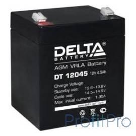 Delta DT 12045 (4.5 А\ч, 12В) свинцово- кислотный аккумулятор
