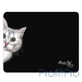 Dialog PM-H15 cat черный, Коврик для мыши, размер 220x180x4 мм