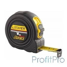 """Рулетка STAYER """"PROFI"""" """"AREX"""", двухкомпонентный противоударный корпус, упрочненное полотно, 10м/25мм [3410-10_z01]"""