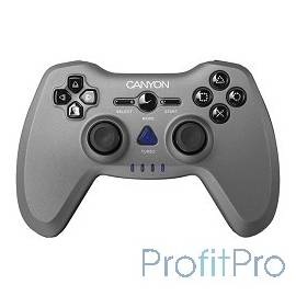 Canyon CNS-GPW6 3in1 wireless gamepad, up to 8 hours of play time, transmission distance up to 10m, rubberized finishing, dual-