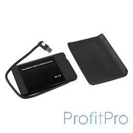 "ORIENT 2565U3 Внешний контейнер, USB 3.0 для 2.5"" HDD/SSD SATA 6Gb/s (JMC567, поддержка UASP), алюминий, встроенный USB кабель,"