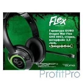 QUMO Flex GHS 0003, стерео, интерфейс 3,5 Jack, с микрофоном [21701]